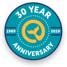 Moby Dick 30 Year Anniversary Logo