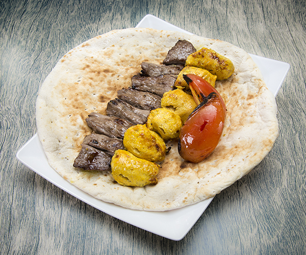 Super combo with beef or lamb paired with tasty pita bread