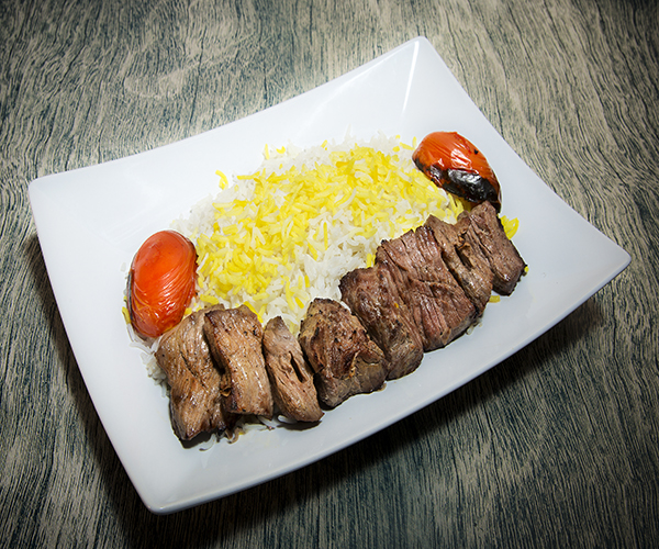 Barreh meat paired with a plate of rice